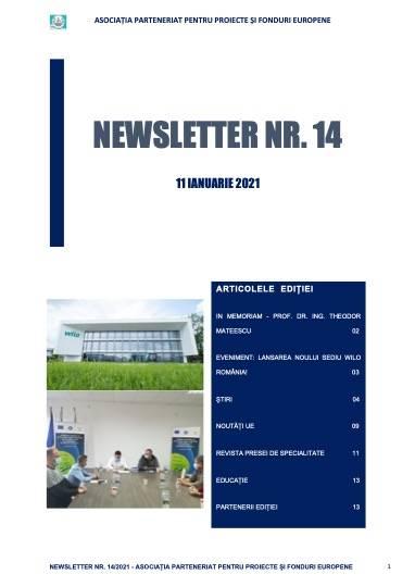 NEWSLETTER APPFE NR. 14 - 11 IANUARIE 2021!